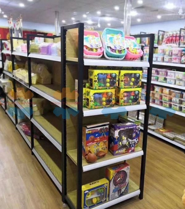 Kệ gỗ siêu thị trưng bày hàng